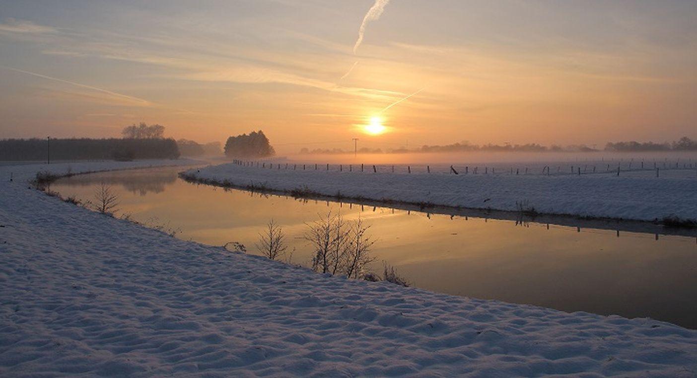 Aue im Winter 2