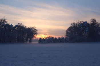 Sonnenuntergang Winter